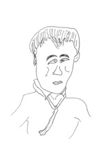 """Mr. Taniyama draws this portrait of """"someone"""". Who do you guess?"""