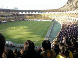 "Mr. Hosono is a great soccer lover and his most favorite picture is that of ""the miracle in Fukuari"" (December, 2008)."