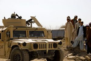 US Army vehicles deployed in Afghanistan.