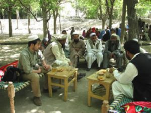 The photo was taken when he was a staff member in Afghanistan before assigned to the Secretary General.
